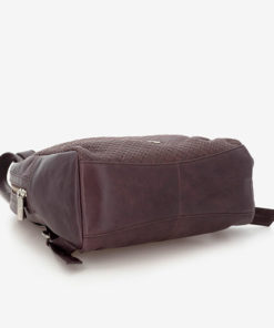 mochila de piel marron abaccino bajo
