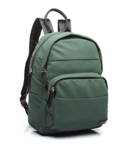 mochila trendy hirundo de la marca abaccino con múltiples bolsillos y franjas bordadas decorativas que le dan un aspecto moderno