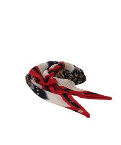 pañuelo elástico con estampado fashion y tela estilo arrugada.