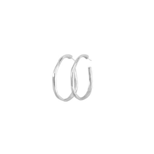 pendientes ohmmm en plata de la marca uno de 50