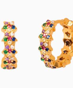pendientes stars colors gold de la marca kommo