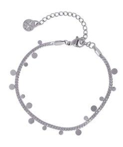 pulsera de cadena con chapitas plateada de la marca anartxy