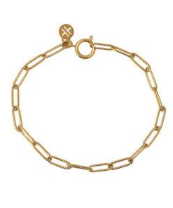pulsera de eslabones en color dorado de la marca anartxy
