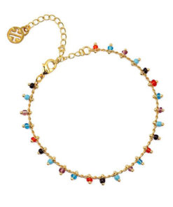 pulsera multicharm de colores de la marca anartxy