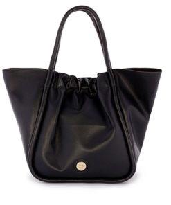 shopper soft bicolor en color negro de la marca martina k