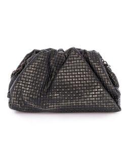 trasera bolso pouch piel print trenzada de la marca martina k