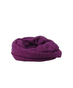 tubular liso de la marca zarucho con tela calada en color violeta