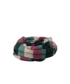 tubular suave con estampado de rayas que combina diferentes colores en el que destaca el rosa de la marca zarucho