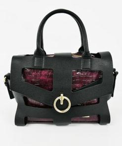 bolso calado con anilla burgundy de la marca noco complementos