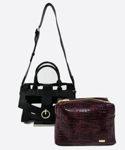 bolso desmontado calado con anilla burgundy de la marca noco complementos
