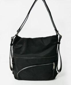 bolso / mochila en color negro de la colección lucía de la marca caramelo
