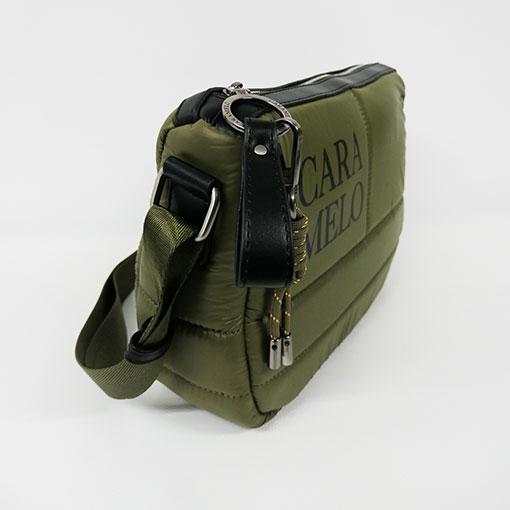 lateral del bolso de la colección sofía en color verde de la marca caramelo
