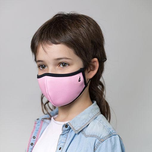 mascarilla homologada infantil de la marca abbacino de color rosa