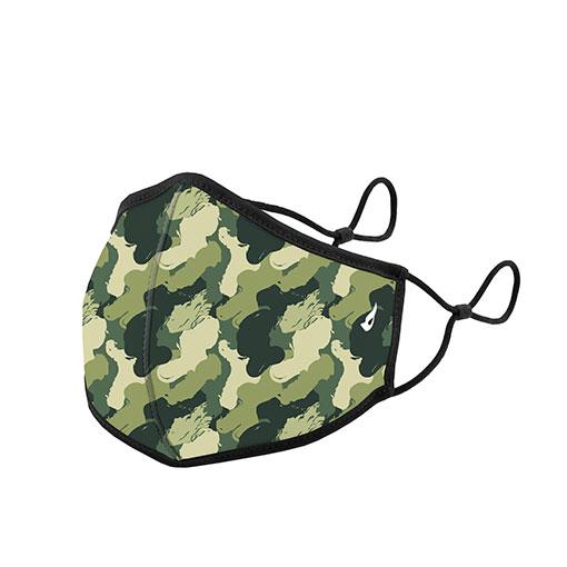 mascarilla homologada de la marca abbacino con estampado militar