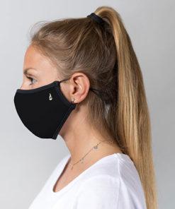 mascarilla homologada de la marca abbacino en color negro