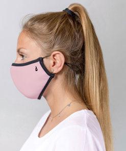 mascarilla homologada de la marca abbacino en color rosa