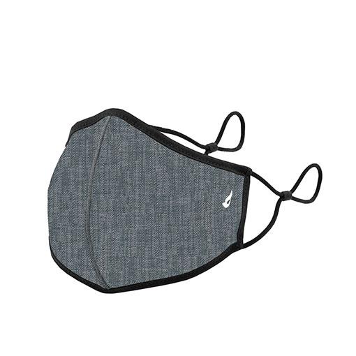 mascarilla homologada de la marca abbacino con estampado vaquero