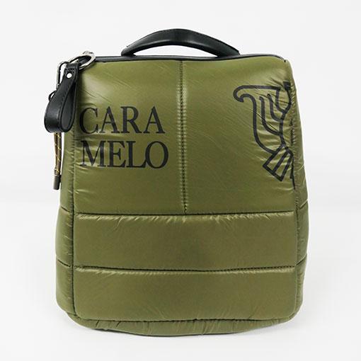 mochila de la colección sofía en color verde de la marca caramelo
