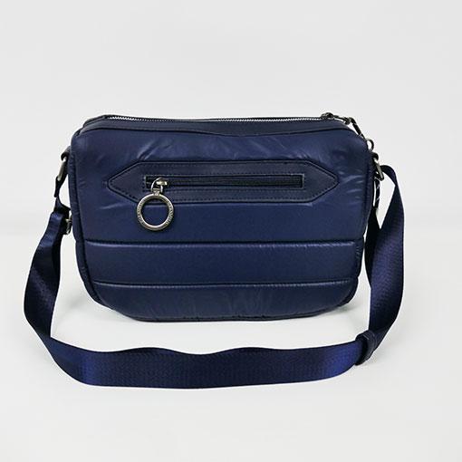 trasera del bolso de la colección sofía en color azul de la marca caramelo