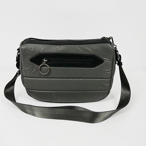 trasera del bolso de la colección sofía en color gris de la marca caramelo