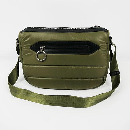 trasera del bolso de la colección sofía en color verde de la marca caramelo