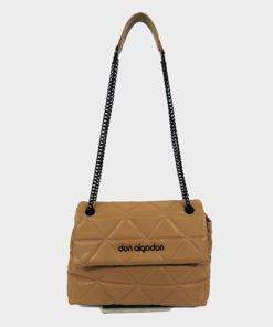 bolso acolchado con doble asa de la marca don algodón