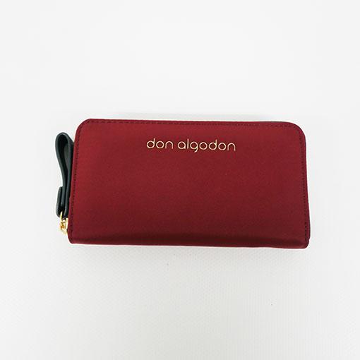 cartera alexandra en color rojo de la marca don algodón