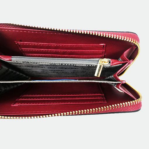interior de la cartera alexandra de la marca don algodón