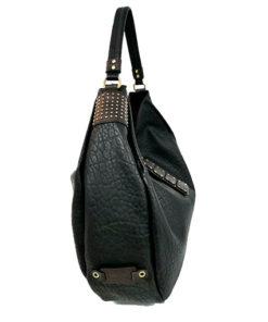 lateral del bolso con cierre de chapas de la marca volum