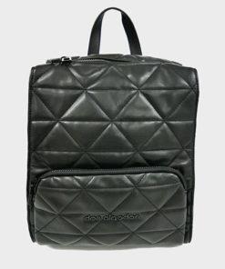 mochila acolchada en color negro de la marca don algodón