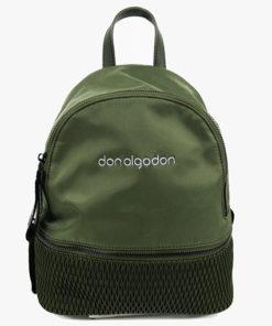 mochila verde de la marca don algodón