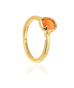 anillo circonita en color naranja de la marca anartxy