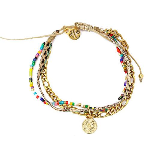 bracelet with round metal chain de la marca anartxy