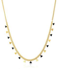 collar triángulos en color negro de la marca anartxy