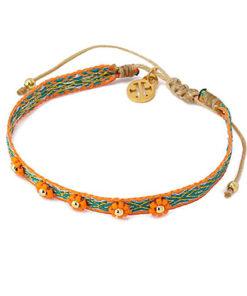 orange bracelet flowers beads de la marca anartxy