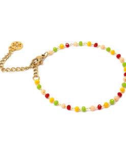 pulsera burnie multicolor en tonos rojos de la marca anartxy