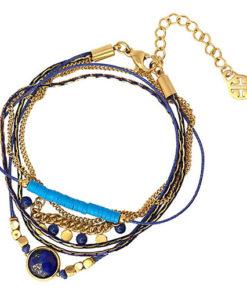 pulsera halden en color azul de la marca anartxy