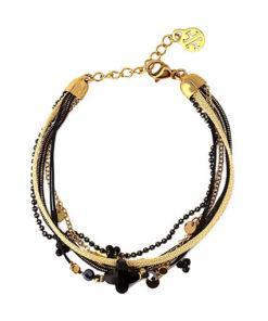 pulsera horten en color negro de la marca anartxy