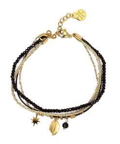 pulsera reine en color negro de la marca anartxy