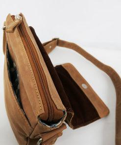 lateral del bolso aral de piel