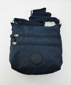 bolso geo en color azul de la marca bensan