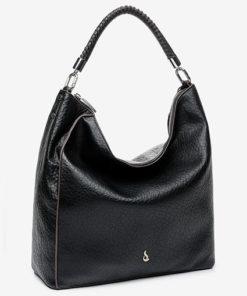 bolso hobo en color negro de abbacino