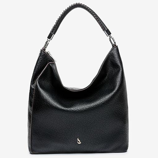 bolso hobo en color negro de la marca abbacino