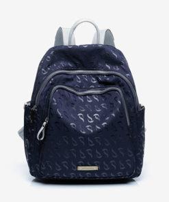 mochila azul jacquard de la marca abbacino