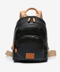 mochila negra multibolsillos de la marca abbacino