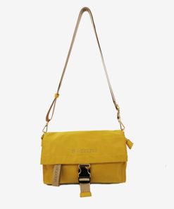 bolso kos en color amarillo de la marca don algodon