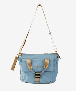 bolso milos en color azul de la marca don algodon