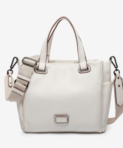 correa bolso shopping blanca de la marca abbacino