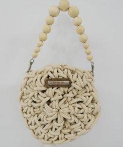 bolso cavallet en color blanco de la marca simó sastre