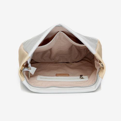 bolso hobo abierto reciclado de la marca abbacino